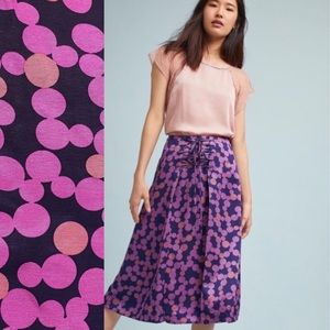 Anthropologie Maeve Lace Up Purple Skirt